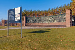 Krupp Memorial (Essen). Essen, Germany - November 1, 2015: Monument to the historic steelmaking process in front of ThyssenKrupp headquarters in Essen, Germany Stock Photography