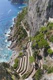 Krupp street in Capri, Naples Royalty Free Stock Images