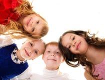 Kruppa av lyckliga barn Royaltyfria Bilder
