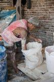 Krupuk工厂在印度尼西亚 免版税库存照片