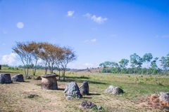 Krus av Laos Arkivfoto