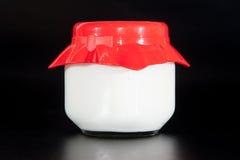 Krus av yoghurt Arkivbild