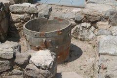 Krus på den Knossos slotten crete greece Royaltyfri Foto