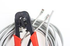 Krusa hjälpmedlet och nätverksspolen Royaltyfri Fotografi