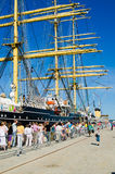 Krusenshtern standing in the dock at the Tallinn's Sea Days 2013 Royalty Free Stock Images