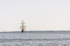 Krusenstern ship arrives to Tallinn Maritime Days Royalty Free Stock Photography