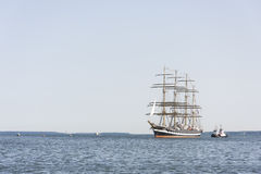 Krusenstern ship arrives to Tallinn Maritime Days Stock Photography