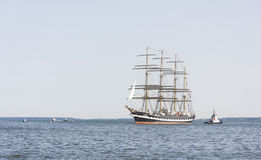 Krusenstern ship arrives to Tallinn Maritime Days Royalty Free Stock Image