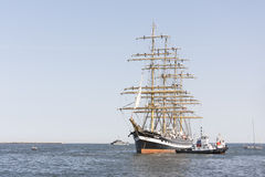 Krusenstern ship arrives to Tallinn Maritime Days Stock Photo