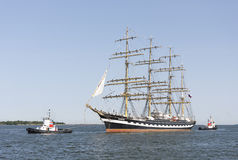 Krusenstern ship arrives to Tallinn Maritime Days Royalty Free Stock Images