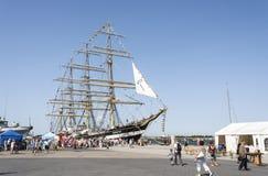 Krusenstern ship at harbor in Tallinn, Estonia Stock Images