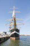 Krusenstern statek przy schronieniem w Tallinn, Estonia Zdjęcia Stock