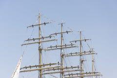 Krusenstern statek przyjeżdża Tallinn Morscy dni Obrazy Royalty Free
