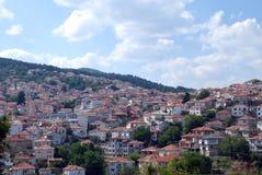 Krusevo,城市全景在马其顿 免版税图库摄影