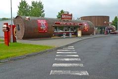 KRUShOVITsE,捷克 公司shoof Krushovitse啤酒厂看法  对Krushovitsap的捷克文本 图库摄影