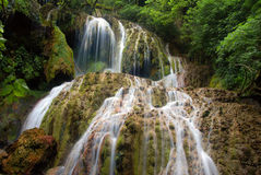 The Krushuna's waterfalls. The longest waterfalls cascade on Balkan peninsula Stock Image