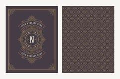Krusidullar och dekorativ vektortappningdesign för hälsningkort eller bröllopinbjudan vektor illustrationer