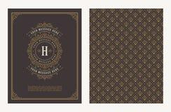 Krusidullar och dekorativ vektortappningdesign för hälsningkort eller bröllopinbjudan royaltyfri illustrationer