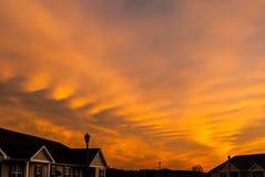 Krusig himmel för afton Arkivbild