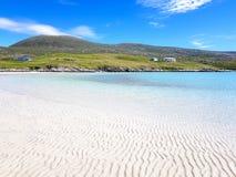 Krusig strandeffekt på en strand royaltyfri bild