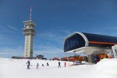 Krusne hory berg, Tjeckien Royaltyfria Bilder