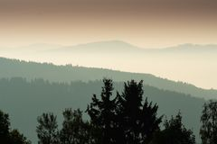 Krusne hory, CZ, EU. Mountains in Czech Republic - Krusne hory, Bohemia Stock Images