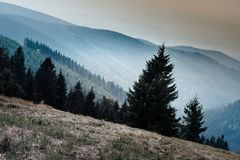 Krusne hory, CZ, EU. Mountains in Czech Republic - Krusne hory, Bohemia Royalty Free Stock Photography