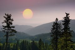 Krusne hory, CZ, EU. Mountains in Czech Republic - Krusne hory, Bohemia Royalty Free Stock Image