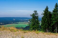 Krusne hory, CZ, EU. Mountains in Czech Republic - Krusne hory, Bohemia Stock Photography