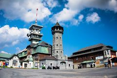 Krusne hory, Klinovec, CZ, UE Foto de Stock Royalty Free