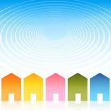 krusning för hus för bakgrundseffekt royaltyfri illustrationer