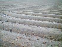 Krusningar av vit sand Royaltyfria Bilder