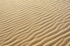 Krusningar i sanden skapar modeller och texturer i sanddyerna arkivbilder