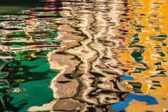Krusningar på yttersidan av vatten Arkivfoto
