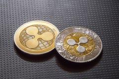 Krusningsmynt, cryptocurrencypengar royaltyfri foto