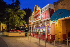 Krusty Burger Simpsons. Los Angeles, CA, USA . January  9, 2016: The Krusty Burger Simpsons at Universal studios hollywood. It is a theme park and film studio in Royalty Free Stock Photography