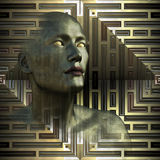 Kruszcowa przyszłość - Niewidomy Seer Fotografia Stock