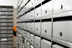 kruszcowa szyk skrzynka pocztowa sprząta Zdjęcie Stock