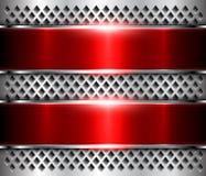 Kruszcowa tła srebra czerwień ilustracji