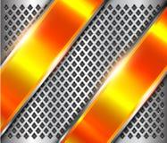 Kruszcowa tła srebra pomarańcze ilustracji