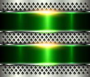 Kruszcowa tła srebra zieleń ilustracji