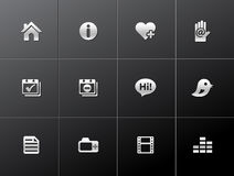 Kruszcowe Ikony - Osobisty Portfolio Obraz Stock