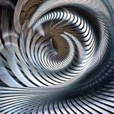 Kruszcowy ślimakowaty futurystyczny abstrakt royalty ilustracja