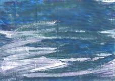 Kruszcowy błękitny abstrakcjonistyczny akwareli tło obraz stock