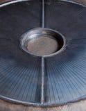 Kruszcowy błękitny metalu talerz w metal pracy fabryce Fotografia Stock