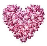 Kruszcowy diament gwiazdy serce Zdjęcia Royalty Free
