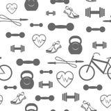 Kruszcowy Dumbell Bezszwowy tło Sport sprawności fizycznej wzór ilustracji