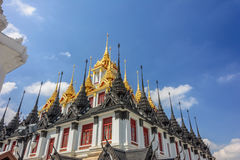 Kruszcowy kasztel w Bangkok Obrazy Royalty Free