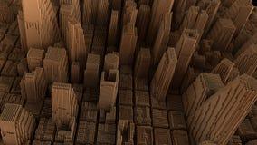 Kruszcowy miasta tło Zdjęcie Stock