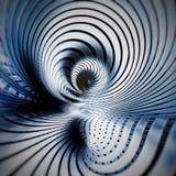 Kruszcowy nowożytny futurystyczny kruszcowy srebny błękit spirali abstrakt ilustracja wektor